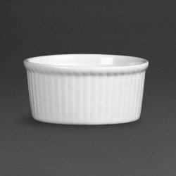 Lot de 12 ramequins Ø 80mm - porcelaine  OLYMPIA Collection Whiteware