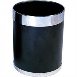 Corbeille 10,2L à papier, à bord argenté BOLERO Poubelles
