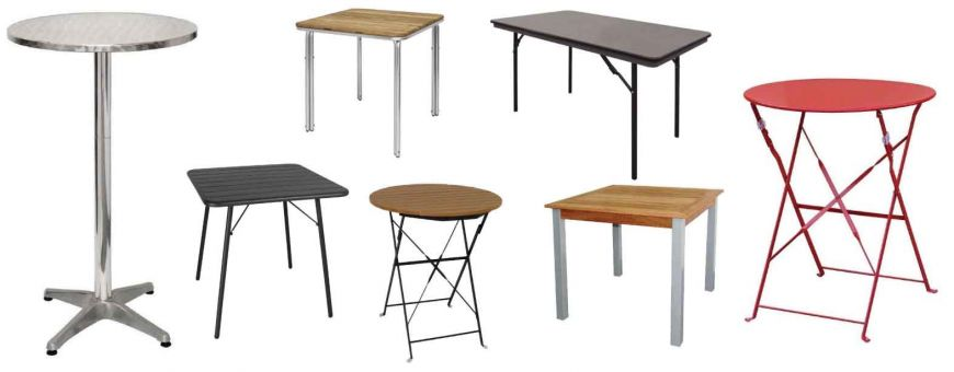 Tables de restaurants