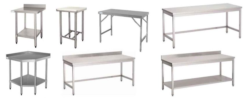 Tables inox professionnelles