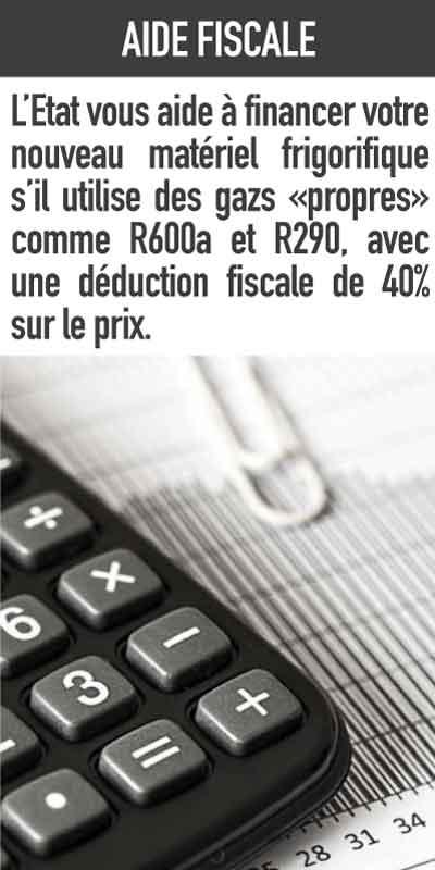 déduction fiscale sur le matériel froid